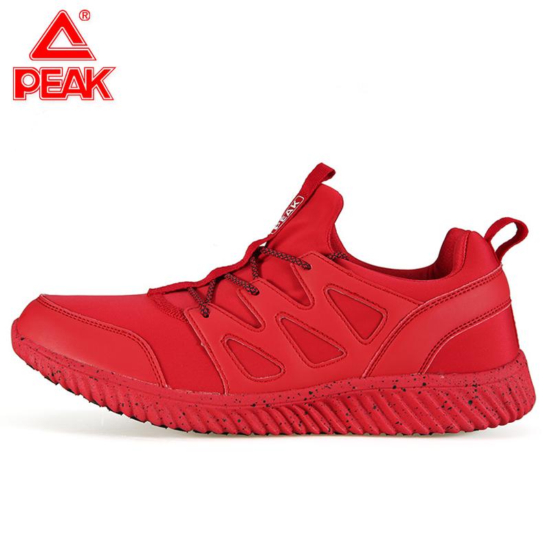 匹克红色男鞋板鞋 春秋季男子休闲鞋轻便防滑运动鞋旅游鞋大红色