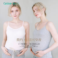 Cotton Dimensional Pregnant Women Breastfeeding Camisole During pregnancy, wear-free bra, bottoming, take summer underwear, go out wearing
