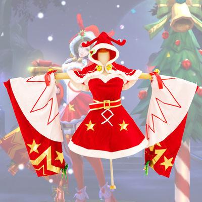 貂蝉cos服王者荣耀貂蝉cos服貂蝉圣诞恋歌cos服cosply服装女现货