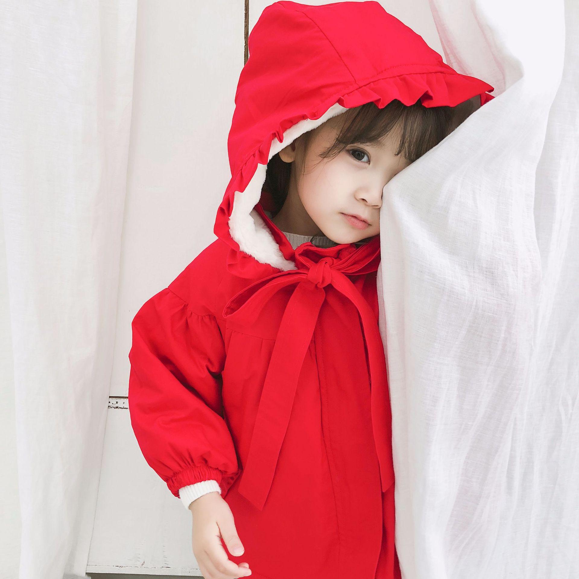 宝宝红色棉衣