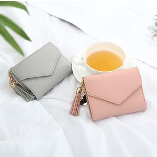 新款 女士小清新超薄款 钱包女短款 可爱迷你小零钱包学生女式卡包