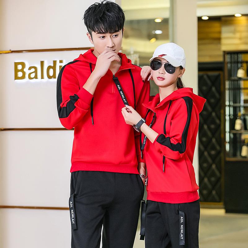 韩版运动情侣套装夏