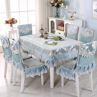 Dining table chair cover modern minimalist table cloth fabric home rectangular dining chair cushion chair cover dining table set