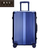 BNU全镁铝合金拉杆箱女万向轮行李箱男20寸登机箱24寸皮箱QQ722
