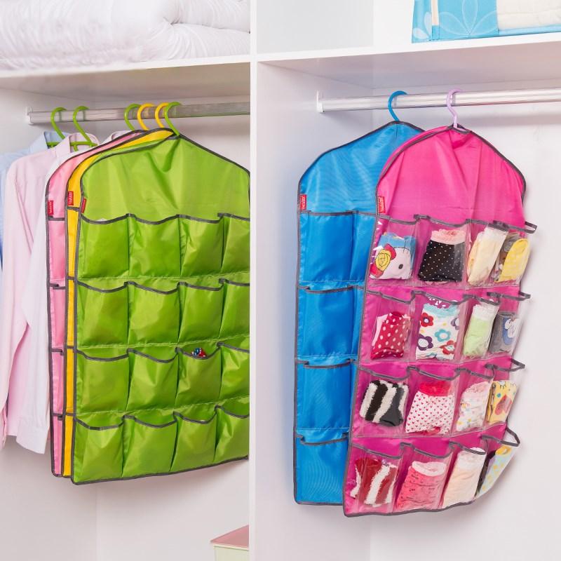 透明格 衣服挂袋衣柜衣架挂袋 加宽加大牛津布 挂袋 门后墙面挂袋