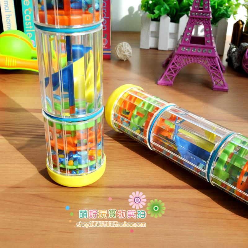 金宝贝同款奥尔夫早教乐器沙锤玩具螺旋雨声模拟下雨的声音3-4-5-