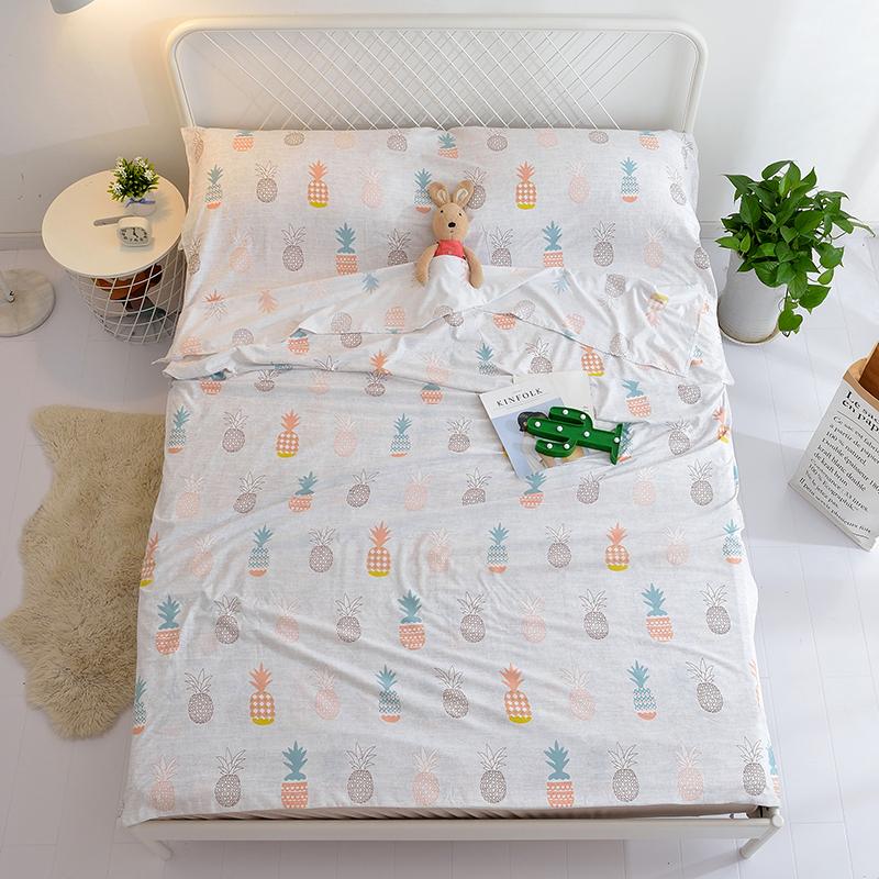 莫代尔水洗棉隔脏睡袋旅行外出酒店宾馆防脏单双人便携式床单被套