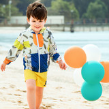 Pathfinder new outdoor children's clothing through money printing soft, breathable lightweight jacket QAEG85048