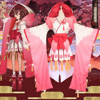 阴阳师cosplay桃花妖cos服初始未觉醒和服装SR式神网易大全套女装