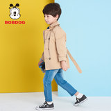 Babu bean children's clothing boy's small windbreaker in the long section 2019 new spring and autumn female baby casual shirt jacket foreign gas