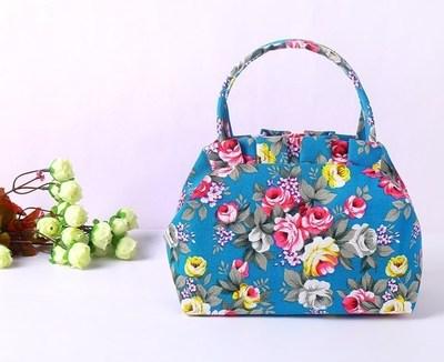 春夏帆布手提布包水饺拎包小号手提包拎包女包包印花小迷你零钱包