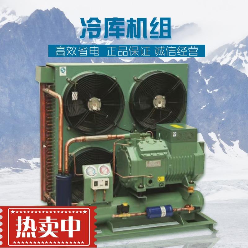 厂家直销全新比泽尔中低温半封闭活塞压缩机风冷机组冷库制冷设备