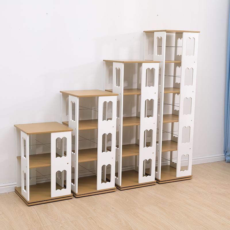 旋转书架360度置物架落地创意CD架大容量学生儿童书柜现代简约