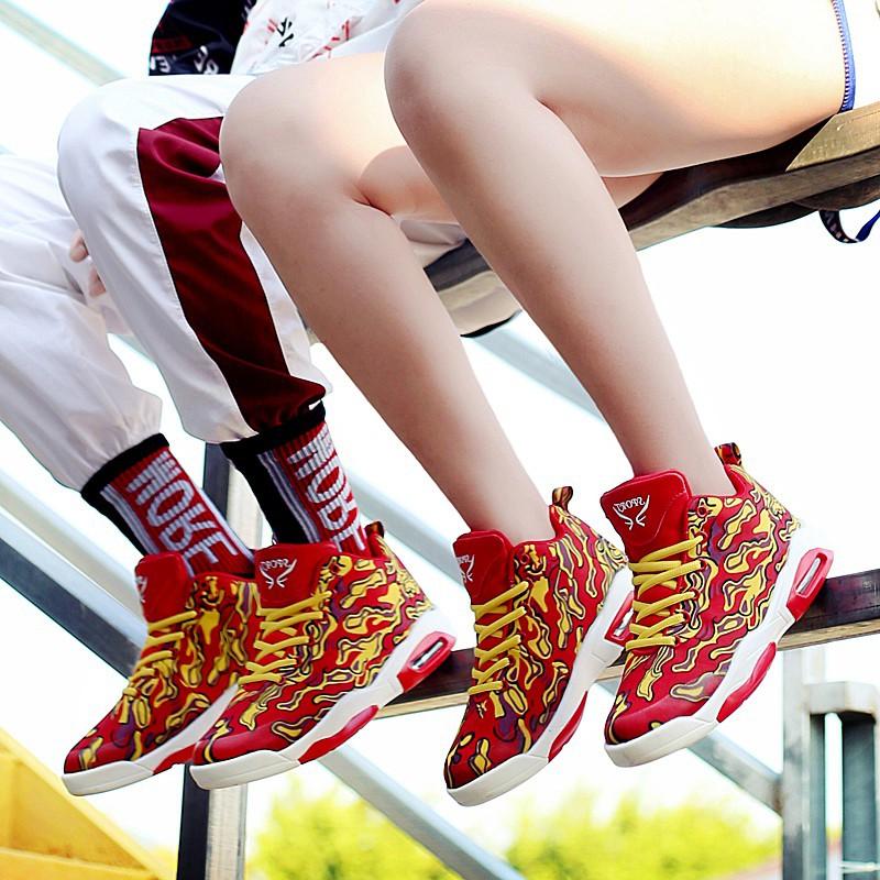 品牌轩尧耐克泰正品2019秋款女鞋气垫减震运动鞋女篮球鞋鸳鸯情侣