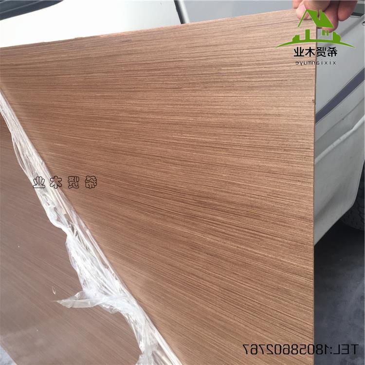 免漆银梨木饰面板涂装板装饰板科技木电视背景墙贴面板仿科定kd板