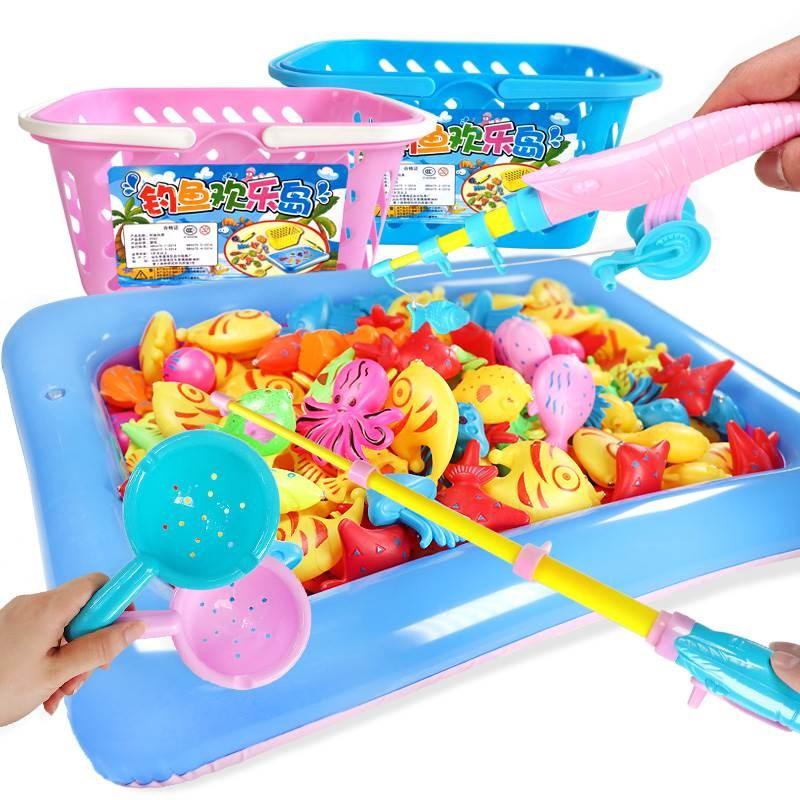 磁铁钓鱼玩具吊鱼钓竿小宝宝婴幼儿益智类小朋友男孩子小孩儿摆摊