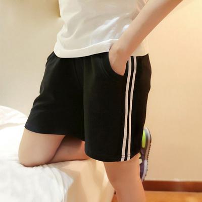 新款加肥加大纯棉短裤女夏超大弹力跑步运动裤大码学生短裤透气