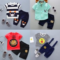 Children's short sleeved boy's summer clothes female baby 1-