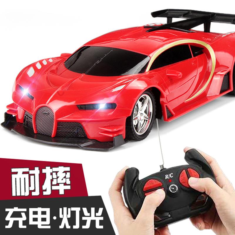 儿童遥控汽车玩具车充电男孩电动无线遥控车赛车漂移小汽车带灯光