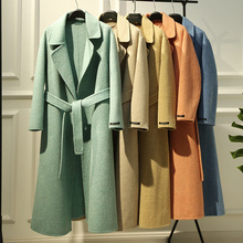 17-2019 Anti-season Special Thickening and Warming Australian Merino Wool Double-sided Wool Overcoat D55092