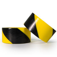 Black and yellow PVC warning tape 471 Zebra line warning landmark stickers floor ground tape workshop 5S marking tape