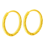 Pure gold 9999 gold car flower earring mom earring children's earring men and women round pure gold simple earring