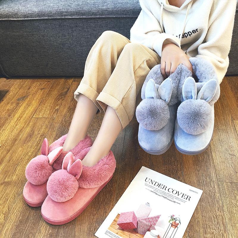 厚底毛毛棉鞋