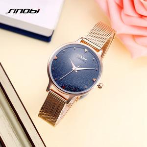 图片:时诺比SINOBI新款女士手表学生白领韩版时尚独特创意石英表钢带表