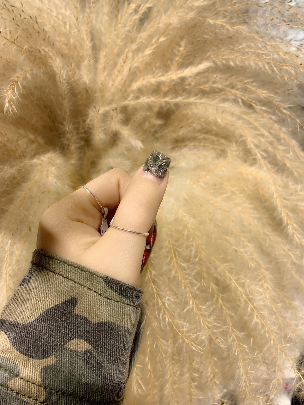 韩货纯银素圈戒指
