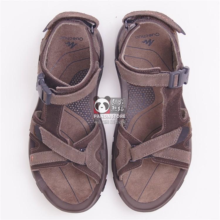 迪卡侬ARPENAZ 120 MEN'S 男士户外真皮凉鞋耐磨徒步凉鞋