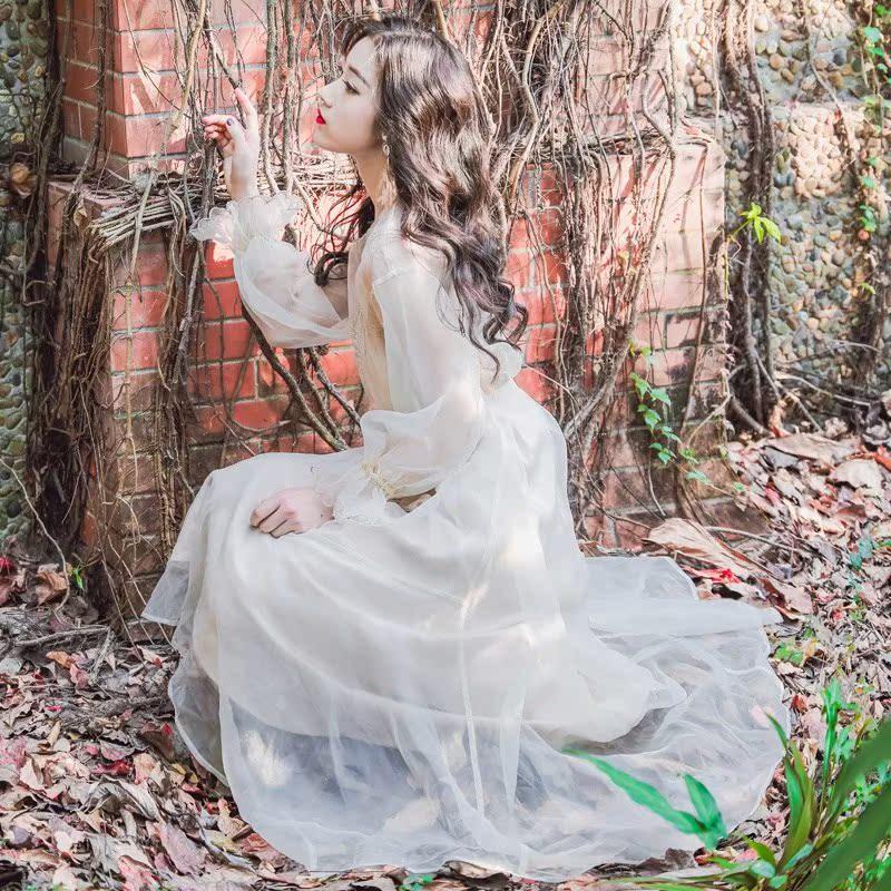 裙子仙女超仙森系甜美抖音仙女裙chic温柔长款纱裙吊带连衣裙套装