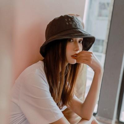 新款太阳帽子女夏天可爱防晒少女渔夫帽春夏女日系字母软布帽男潮