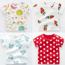 Женский ребенка локтя 1 лет старый 3 летняя одежда короткий рукав хлопок футболка девушка летом ребенка детей Одежда верхняя детей 0 мальчиков 2