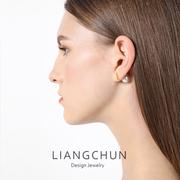 925纯银双面大珍珠耳钉女天然气质韩国个性前后简约网红淡水耳环