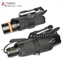 UltraFire手电配件尼龙套360度可旋转腰夹手电筒套子手电腰带夹