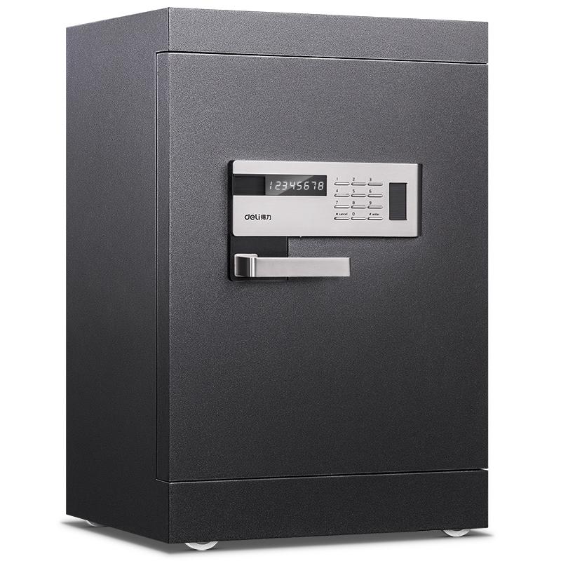 得力4094电子密码床头柜家用办公防盗全钢加厚入柜式保险盒防盗保险柜单门保险箱52CM