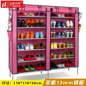吧乐吧鞋柜 简易防尘鞋柜 布艺简约现代收纳多层组合拆装铁艺鞋架