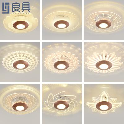 过道灯现代简约门厅入户走廊灯个性创意超薄玄关阳台灯led吸顶灯
