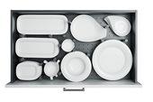 百隆高帮厨房抽屉整理器餐具碗盘收纳盒刀叉筷子分隔置物架洞洞板