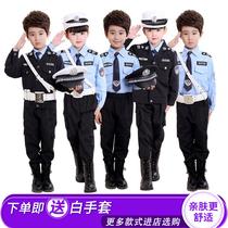 儿童警察服演出服小警官衣服军装套装黑猫警长交警表演服装特种兵