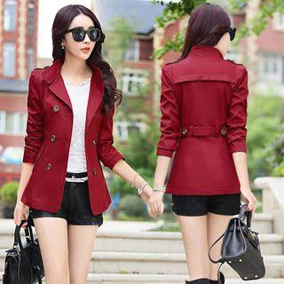 韩版春秋季新款20-25-30-35-40岁女装小风衣外套修身短款外衣服潮