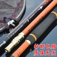 钓鱼抄网3米碳素抄网超硬折叠伸缩竞技抄网捞鱼网渔具用品抄网杆