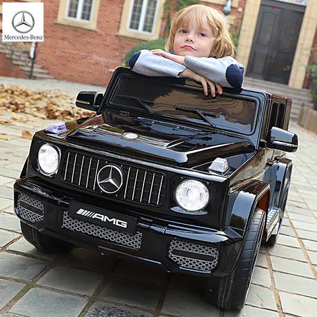 奔驰儿童电动车四轮越野遥控玩具车可坐人宝宝汽车四驱动充电童车商品大图