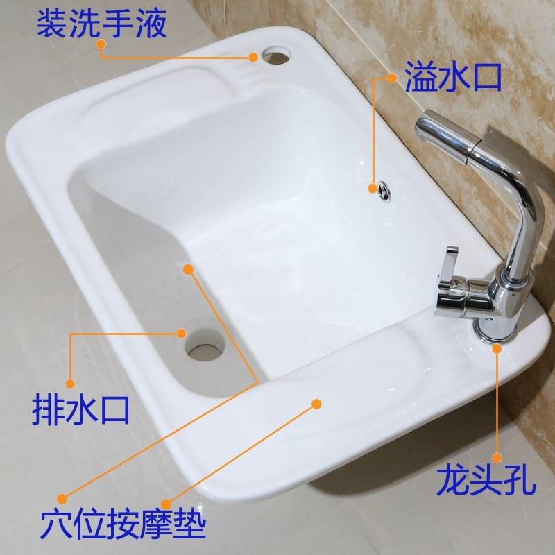 陶瓷洗脚盆洗脚池足浴盆沐足盆卫生间按摩瓷器泡脚盆家用