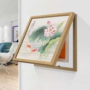 免打孔欧式竖版电表箱装饰画盒竖款大象横风景厨房简约温馨墙壁横