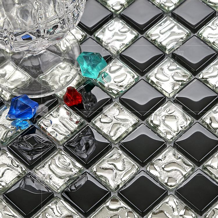 金属电镀拼图金色镜面背景墙贴瓷砖现货 马赛克 水晶玻璃 131 晶滢 T