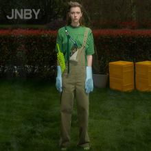 【商场同款】JNBY/江南布衣2019春新品牛仔直筒背带裤5J1351330