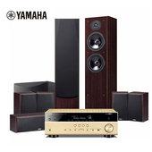SW011 杜比全景声数字5.1.2 9件套 V581 雅马哈 P51家庭影院7.1音响音箱套装 F51 进口Yamaha