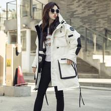 韩国情侣大码 加厚冬装 男外套200斤反季 户外军工装 羽绒服女中长款图片