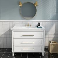 北欧浴室柜智能落地式轻奢卫生间美式橡木洗漱台洗脸洗手盆柜组合